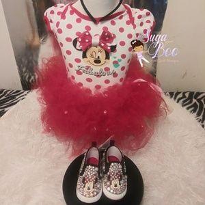 New Baby Phat Sam BP Polka Dot Charcoal Ice Pink Slip On Sneaker Girls YOUTH
